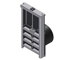 Pipe mounted penstock